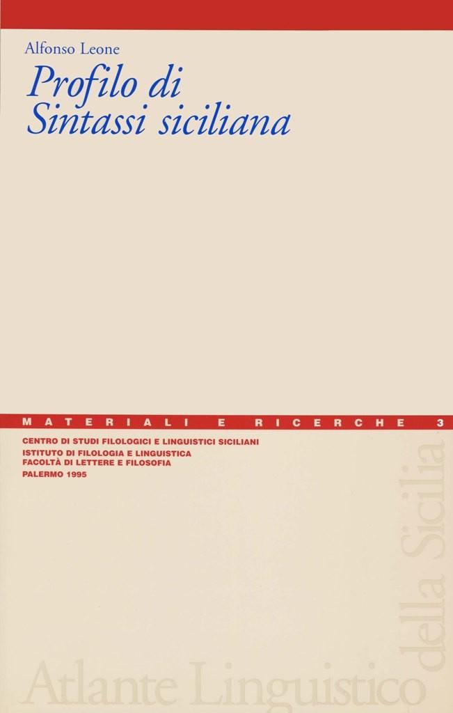 Book Cover: Profilo di sintassi siciliana