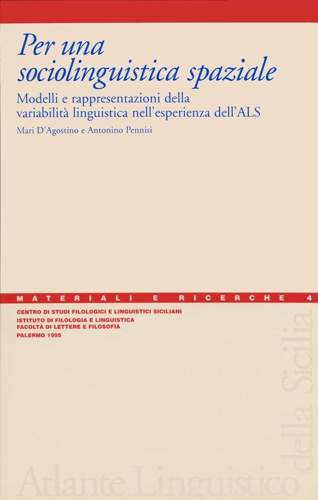 Book Cover: Per una sociolinguistica spaziale