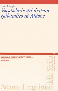 Book Cover: Vocabolario del dialetto galloitalico di Aidone