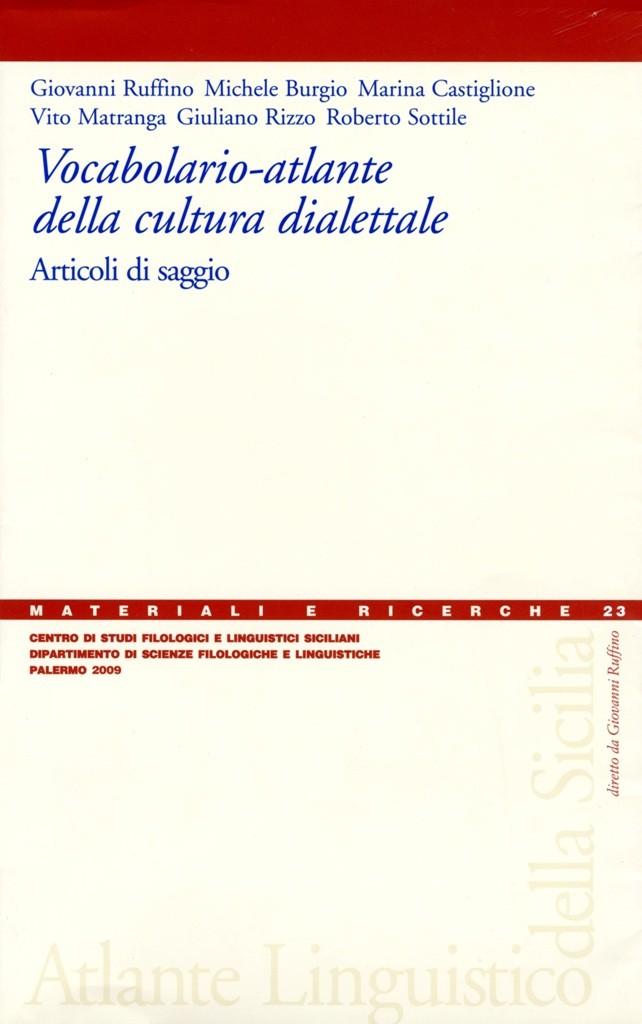 Book Cover: Vocabolario–atlante della cultura dialettale