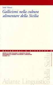 Book Cover: Gallicismi nella cultura alimentare della Sicilia