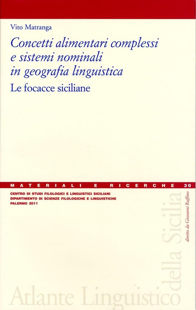 Book Cover: Concetti alimentari complessi e sistemi nominali in geografia linguistica