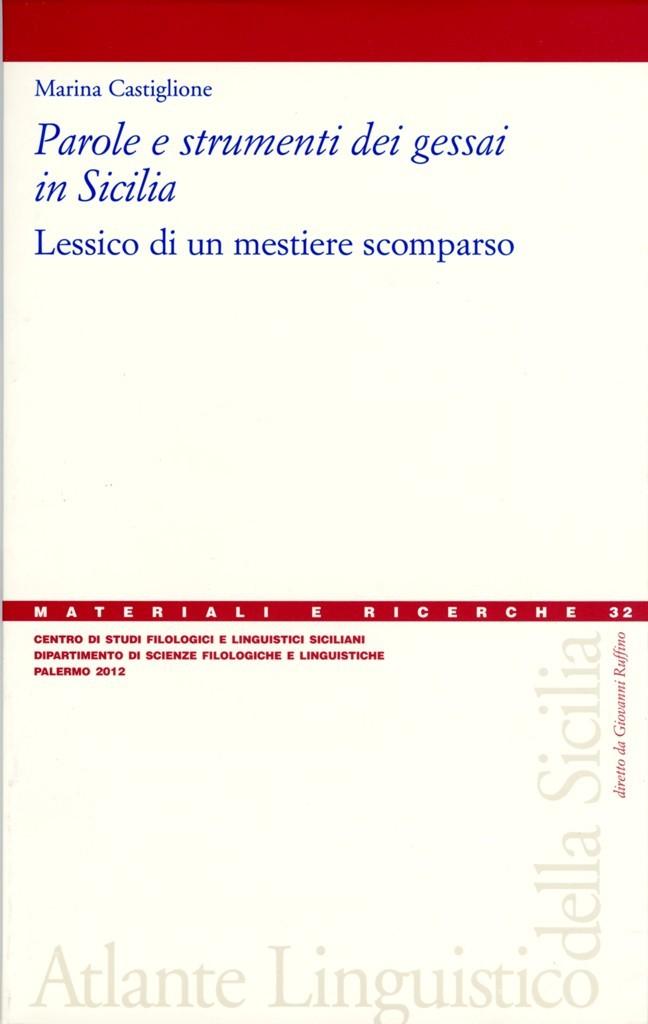 Book Cover: Parole e strumenti dei gessai in Sicilia