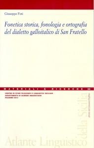 Book Cover: Fonetica storica, fonologia e ortografia del dialetto galloitalico di San Fratello