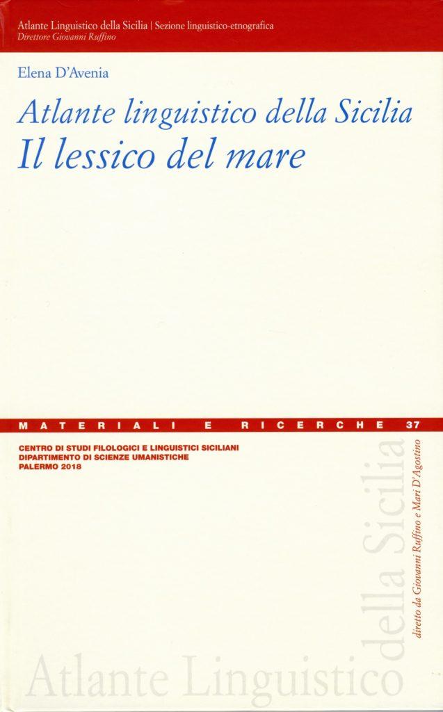 Book Cover: Atlante Linguistico della Sicilia. Il lessico del mare